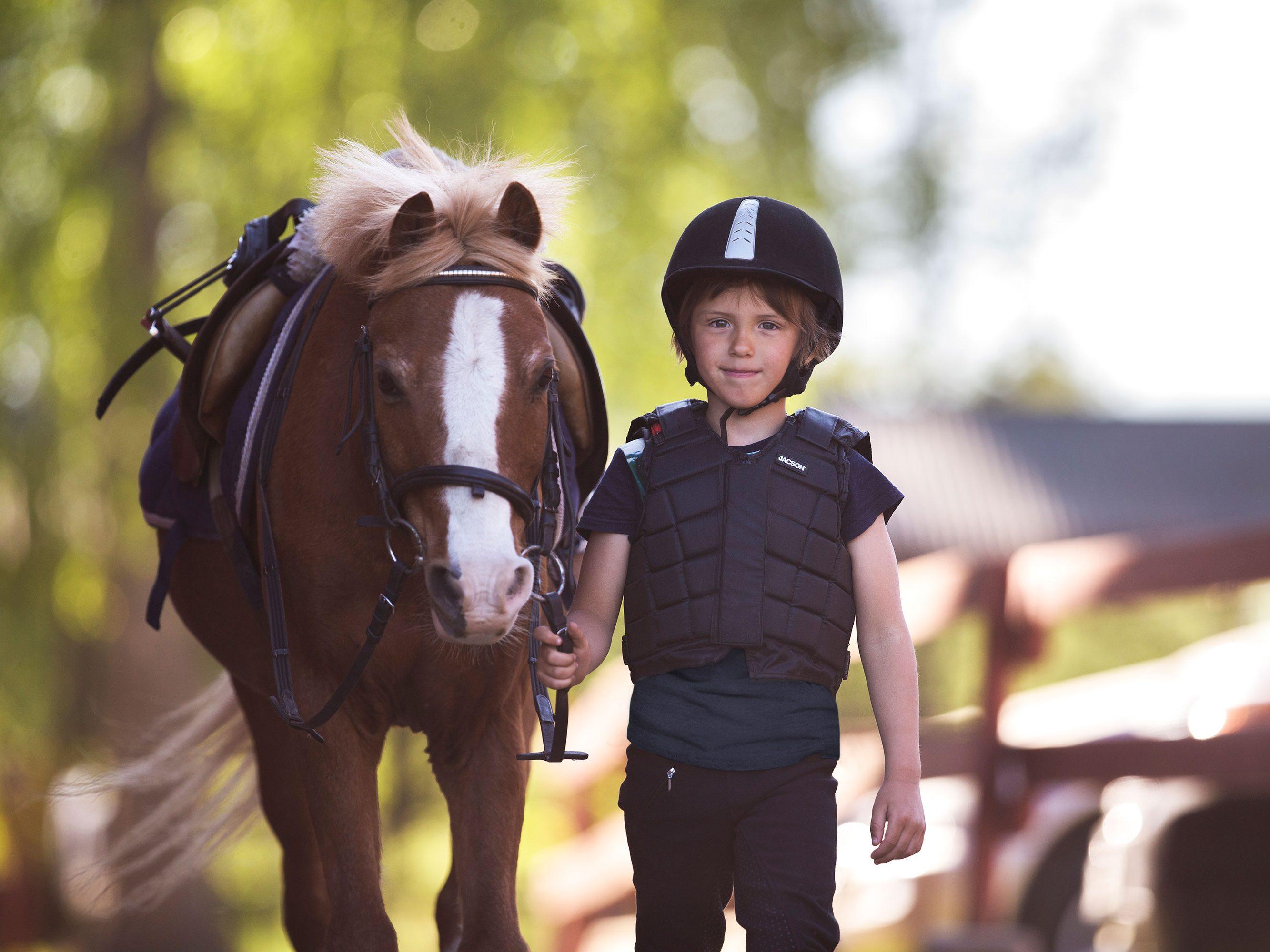 Pojke med häst